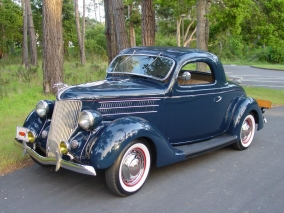 1936 Ford Deluxe Three Window Coupe